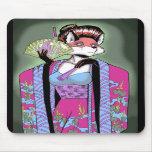 Fox Mousepad del geisha Alfombrillas De Ratón