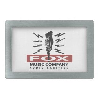 Fox Music Vintage Microphone Logo Beltbuckle Rectangular Belt Buckle