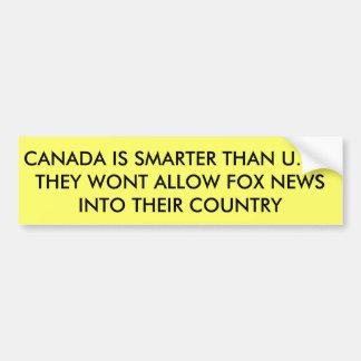 Fox News no permitido en Canadá Pegatina Para Auto
