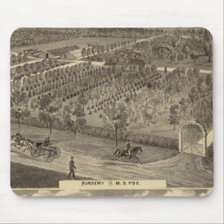Fox nursery, res, orchard mouse pad