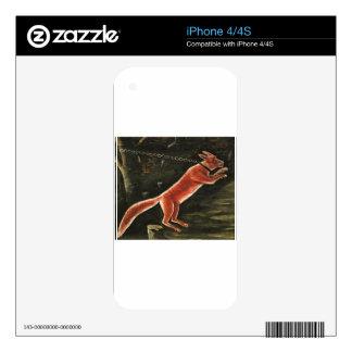 Fox on chain by Niko Pirosmani iPhone 4 Skin
