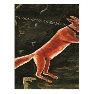 Fox on chain by Niko Pirosmani Postcard