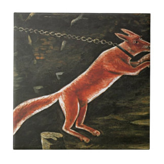 Fox on chain by Niko Pirosmani Tile