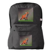 Fox on meadow american apparel™ backpack