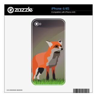 Fox on meadow iPhone 4 decal