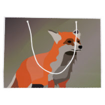 Fox on meadow large gift bag