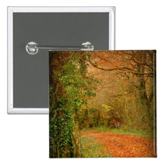 Fox on the Golden Path Poster ~ Fantasy 2 Inch Square Button