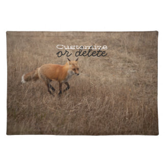 Fox on the Run; Customizable Cloth Placemat