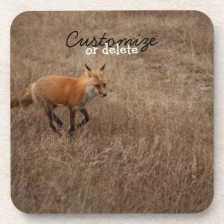 Fox on the Run; Customizable Coaster