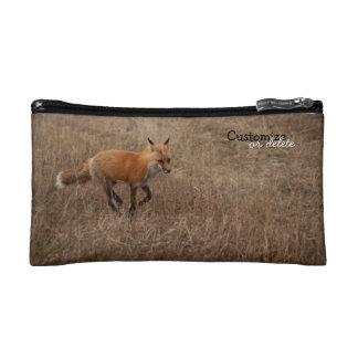 Fox on the Run; Customizable Cosmetic Bags