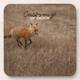 Fox on the Run; Customizable Drink Coasters