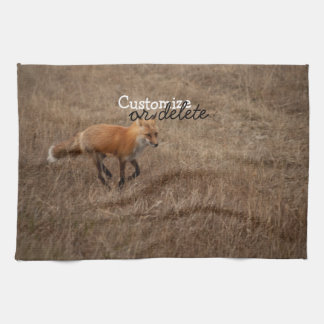Fox on the Run; Customizable Hand Towels