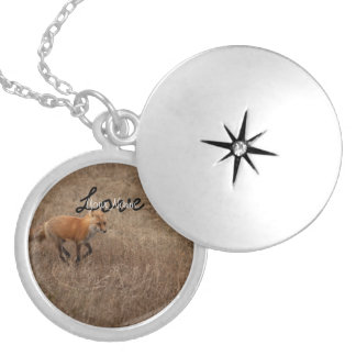 Fox on the Run; Customizable Silver Plated Necklace
