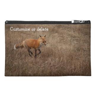 Fox on the Run; Customizable Travel Accessory Bag