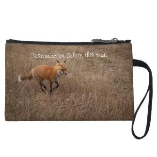 Fox on the Run; Customizable Wristlet Clutch