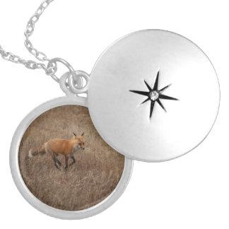 Fox on the Run Locket Necklace
