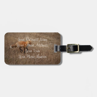 Fox on the Run; Promotional Bag Tag