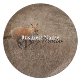 Fox on the Run; Promotional Dinner Plate