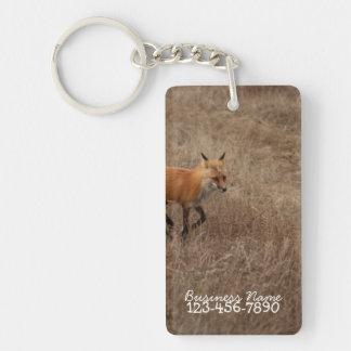 Fox on the Run; Promotional Rectangular Acrylic Keychain