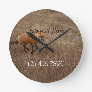 Fox on the Run; Promotional Round Wall Clock