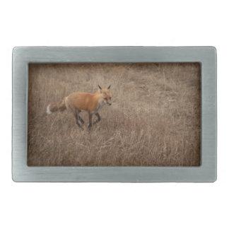 Fox on the Run Rectangular Belt Buckles