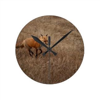 Fox on the Run Round Wall Clocks