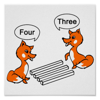 Fox Optical illusion Trick Poster