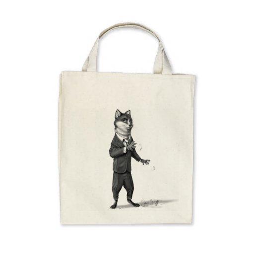 Fox Organic Grocery Tote Tote Bag