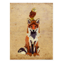 FOX & OWL Postcard