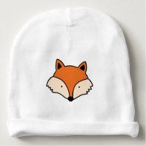 Fox pattern baby beanie