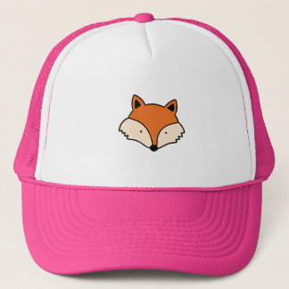 Fox pattern trucker hat