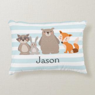 Fox personalizado almohada del oso del cuarto de