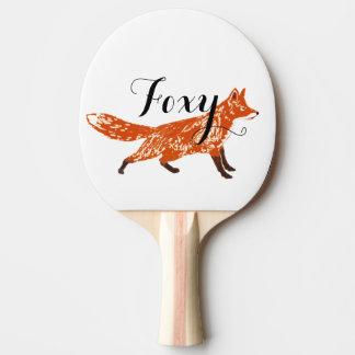 Fox personalizado de las criaturas del arbolado pala de tenis de mesa