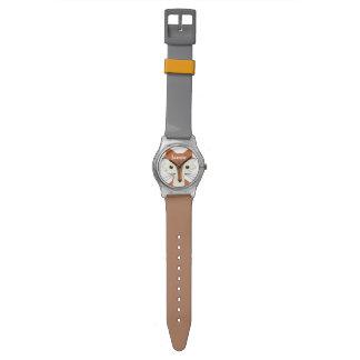 Fox personalizado de las criaturas del arbolado relojes de mano
