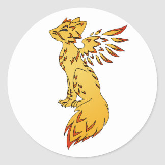 Fox Phoenix Classic Round Sticker
