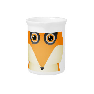 Fox Plate Drink Pitchers