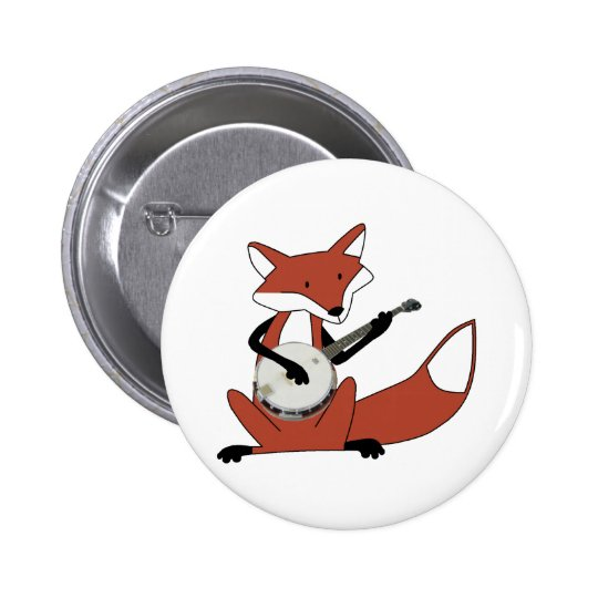 Fox Playing the Banjo Button