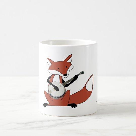 Fox Playing the Banjo Coffee Mug