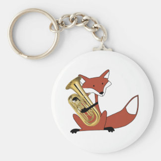Fox Playing the Euphonium Keychains