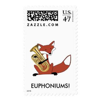 Fox Playing the Euphonium Postage