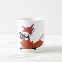 Fox Playing the Flute Coffee Mug
