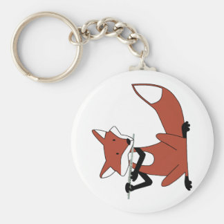 Fox Playing the Flute Keychain