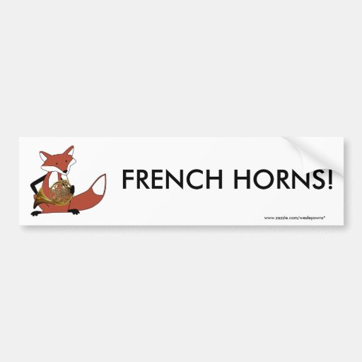 Fox Playing the French Horn Car Bumper Sticker