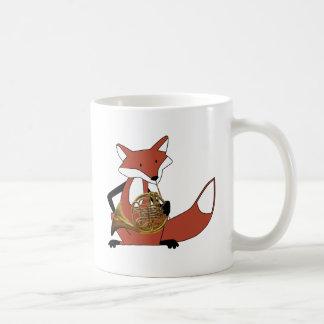 Fox Playing the French Horn Coffee Mug