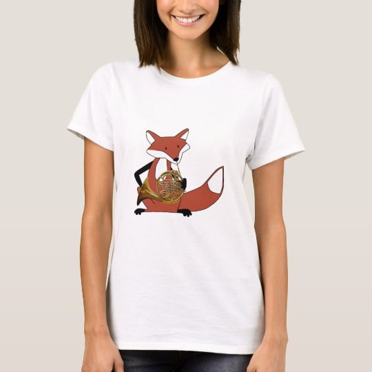 Fox Playing the French Horn T-Shirt