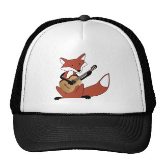 Fox Playing the Guitar Trucker Hat