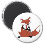 Fox Playing the Oboe Fridge Magnets