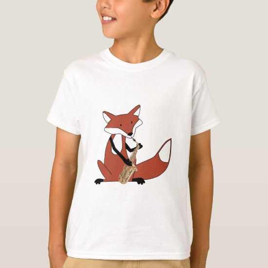 Fox Playing the Saxophone T-Shirt