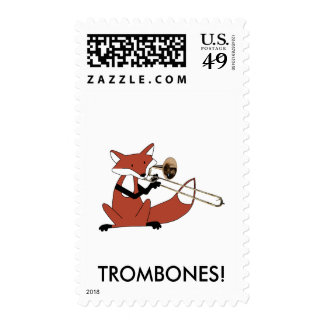 Fox Playing the Trombone Stamps