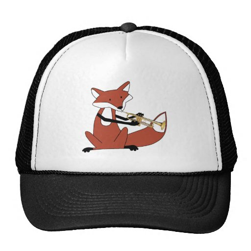 Fox Playing the Trumpet Mesh Hats